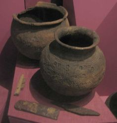 Pots at the Viking Museum in Ribe