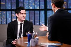LATE NIGHT WITH SETH MEYERS -- Episode 0128 -- Pictured: (l-r) Actor Robin Lord Taylor during an interview with host Seth Meyers on November 17, 2014 -- (Photo by: Lloyd Bishop/NBC/NBCU Photo Bank via Getty Images)