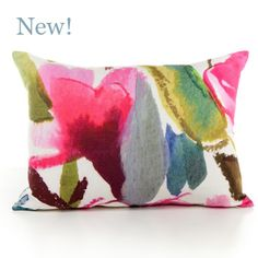 Floral Bedding, Fabrics & Home Accessories Diy Pillows, Decorative Throw Pillows, Hand Painted Fabric, Painted Silk, Bluebellgray, Colourful Cushions, Floral Bedding, Silk Pillow, Watercolor Pattern