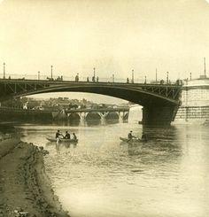 Italy Roma Bridge Garibaldi Old NPG Stereo Photo 1900