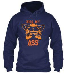 Kiss My Ass Navy Sweatshirt Front