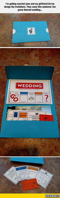 Game Themed Wedding Invitations                                                                                                                                                      More