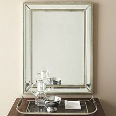 powder room | Pearl Beaded Mirror | jcpenney $150