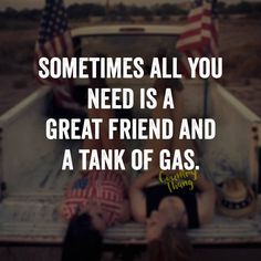 Sometimes all you need is a great friend and a tank of gas. #friendgoals…