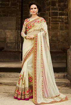 Impressive Ivory Saree
