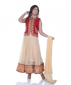 Venetian Red and Peach Yellow lawn kameez