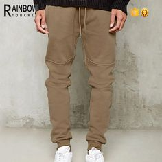 FashionOutfit Men/'s Casual Side Rainbow Panel Taped Ankle Zipper Track Pants