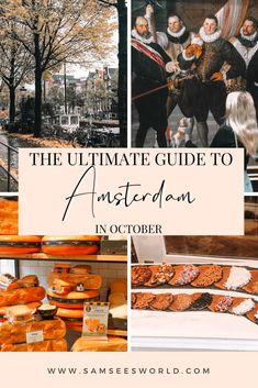 A visit to Amsterdam in October is a great time to visit this stunning European gem. Amsterdam is a beautiful city with its unique colorful houses, maze of canals, and a plethora of restaurants and cafes. Every month in Amsterdam warrants a different adventure and October is no different. Amsterdam Itinerary, Amsterdam City Guide, Amsterdam Travel, See World, Amsterdam Things To Do In, European Travel, House Colors, Travel Guide, Stuff To Do