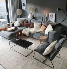 Living Room Decor Inspiration, Living Room Decor Cozy, Small Living Rooms, Living Room Designs, Modern Living, Luxury Living, Living Spaces, Home Interior, Living Room Interior