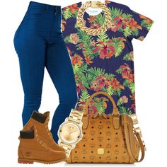 A fashion look from October 2014 featuring Timberland ankle booties, MCM handbags and Movado watches. Browse and shop related looks.