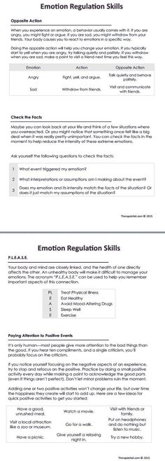DBT Emotion Regulation Skills Preview: