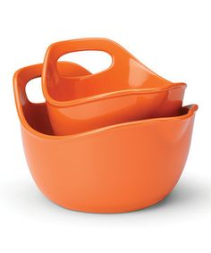 Love this Rachael Ray Orange Mixing Bowl Set by Rachael Ray on #zulily! #zulilyfinds