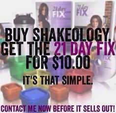 TODAY is the last day of the #21dayfix sale!  If you are interested in the program don't hesitate to save yourself some money today!!!  Comment below and I will help you.  The best part is you get me as your coach and you get to participate in my FREE private facebook group that is jam packed with inspiration and accountability!