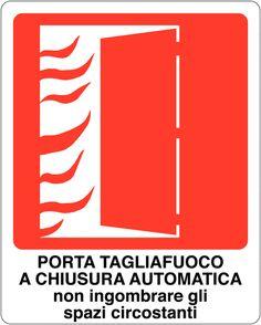 Cartello 250x310h porta tagliafuoco a chiusura automatica for Cartelli antincendio dwg