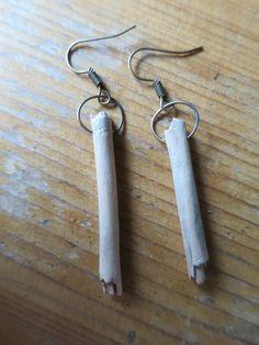 wood stick earrings