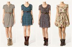 adorei as opções de vestidinhos florais com as botinhas :)