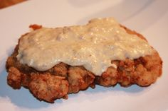 Country fried steak- recipe calls for shortening but I just use less oil. Needs more salt too.