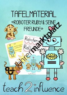 """Tafelmaterial """"Roboter Ruby & Freunde"""" Peanuts Comics, Agriculture Farming, School Social Work, Home Economics, Pictorial Maps, Physical Science, Robot"""