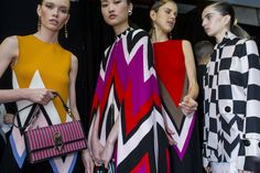 Ferragamo brought joyous colour to AW16 with playful shapes and geometric patterns.