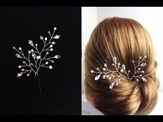 DIY Bridal Crystals & Pearls Tiara Hair Vine Headband Crown Bridal Hair Headpiece - YouTube