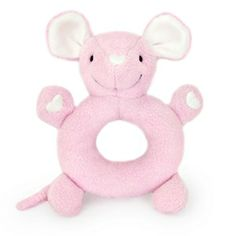 Apple Park - Pink Mouse Soft Teething Toy