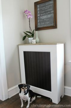 Can you believe this GORGEOUS area is... a RADIATOR COVER? Awesome DIY instructions.