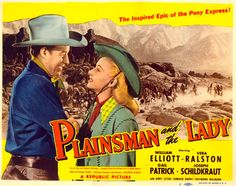 "The Plainsman and the Lady  | Title card for ""Plainsman and the Lady"" starring William Elliott."