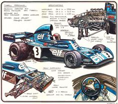 Tyrrell 006 Ford drawings (Werner Buhrer)...