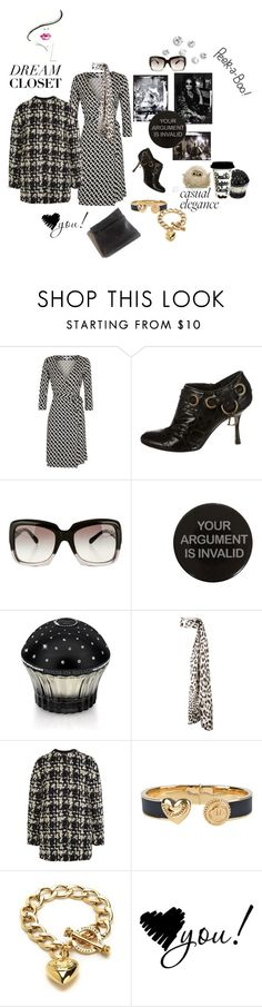 """""""Private wardrobe peek: my dress which is able to handle the pasta for lunch belly ;)"""" by juliabachmann ❤ liked on Polyvore featuring Peek, Diane Von Furstenberg, Christian Dior, Chanel, House of Sillage, Haider Ackermann, Giambattista Valli and Juicy Couture"""