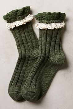 These socks from Anthro are beyond adorable--and would be beyond perfect to wear with Birks in the Fall.
