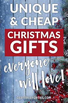 Unique & Cheap Holiday Gift Ideas that They'll Love - Debt Free Forties It takes a bit of creativity to find cheap Christmas gifts that fit into your budget. With some planning you can easily find something they'll love! Diy Christmas Gifts For Family, Christmas On A Budget, Cheap Holiday, Christmas Fun, Holiday Gifts, Christmas Decorations, Holiday Ideas, Homemade Christmas, Holiday Money