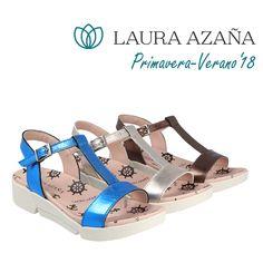 c93239381 Confortables sandalias metalizadas de mujer. Descubre la nueva colección  primavera-verano 2018 de Laura