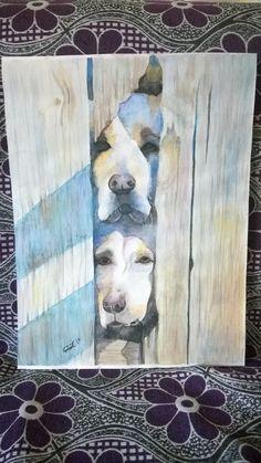 Suluboya Köpek resmim. Watercolor dogs.