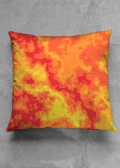 Shades of Fire, Pillow Vida Design, Original Art, Shades, Fire, Throw Pillows, Toss Pillows, Decorative Pillows, Decor Pillows, Eyeshadow
