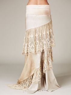 Free People Abbie'S Limited Edition Skirt in Beige (Wash) | Lyst