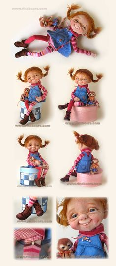 Pippi, felt doll by Rina Bears