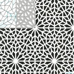 geometric patterns by evangelina Geometric Patterns, Geometric Mandala, Geometric Designs, Textures Patterns, Geometric Tattoo Design, Stencil Patterns, Pattern Art, Pattern Design, Islamic Art Pattern