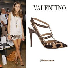 Olivia Palermo in Valentino Rockstud leopard print pumps [Valentino] - $217.00 : Discounted Christian Louboutin,Jimmy Choo,Valentino Shoes Online store