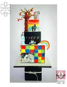 Sugar Art for autism- Mother and child - Cake by Expressions Cake Art (Su)