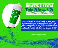 Ionways Alkaviva Vesta GL Group GDF Sediment Filter http://www.ionizeroasis.com/vesta-sediment-filter.html
