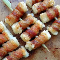 Bacon Wrapped Mochi (餅の豚巻き)