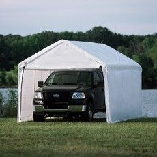 The versatile ShelterLogic Corral 12 x 12 ft. Shelter - Green is a portable and highly durable shelter for all your livestock needs. Backyard Shade, Backyard Canopy, Garden Canopy, Canopy Outdoor, Gazebo, Canopy Frame, Diy Canopy, Canopy Tent, Canopies