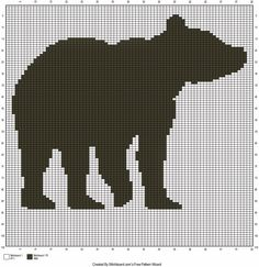 Free Bear Silhouette Crochet Chart.  Follow this graph to make a great hunting/outdoors themed crochet pillow.