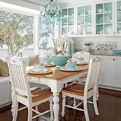 White dining room - love it