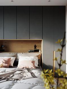 Bedroom Bed Design, Bedroom Furniture Design, Modern Bedroom Design, Home Bedroom, Home Interior Design, Bedroom Decor, Bedrooms, Casa Milano, Bedroom Cupboard Designs