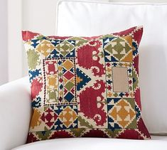 Autumn Embroidered Pillow Cover #potterybarn