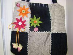 Bolsa de tecido | Raquel Artesanatos | 2611DF - Elo7