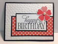 Happy Birthday, Everyone, Flower Shop, Birthday Card, Stampin Up!, Rubber…
