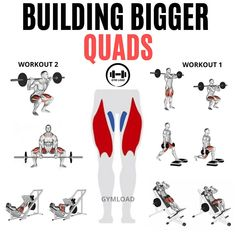 Here are the best workout to build bigger quads at home . Add these effective exercises in your leg routine. Best Crossfit Workouts, Leg Day Workouts, Fitness Facts, Fitness Motivation, Fitness Nutrition, Olympia, Gym Planner, Dumbbell Chest Workout, Quad Exercises