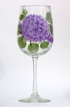 Lilacs hand-painted wine glass http://www.wineflowersglass.com/collections/wineglasses/products/lilacs $19.95